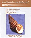 Elementary Algebra for College Students : Early Graphing, Allen R. Angel, 0130402710