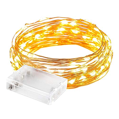 Aiiato LED String Lights, 2M 20LED Battery Powered Copper Wire Lights String Starry Lights for D?