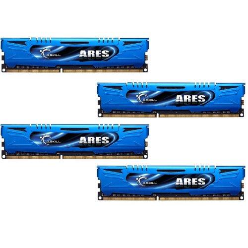 G.SKILL Ares Series 32GB (4 x 8GB) 240-Pin SDRAM DDR3 1866 (PC3 14900) Desktop Memory F3-1866C10Q-32GAB ()
