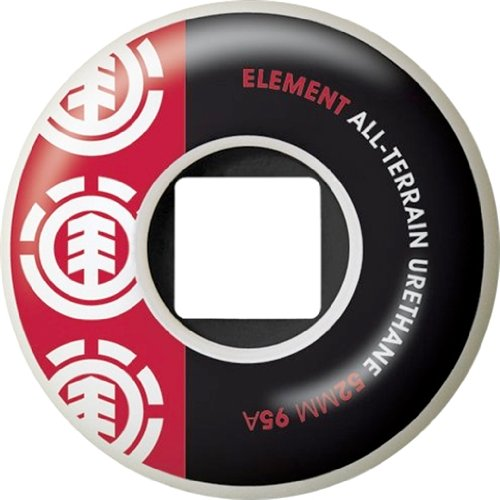 Element Section 52mm White Black Red 95a At Skate Wheels ()