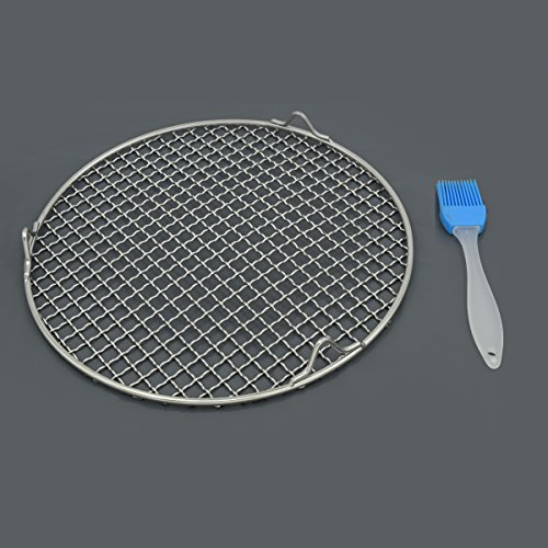 Fivebop Multi-Purpose Stainless Steel Cross Wire Round Steaming Cooling Barbecue Racks/Carbon Baking Net/Grills/Pan Grate with 3 Legs (11 inches) by Fivebop (Image #6)