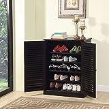 247SHOPATHOME cm-AC213EX Della Classic Style Shoe Cabinet, Espresso
