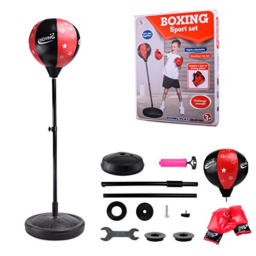 PROKTH Teen Fitness Freestanding Reflex Punching Bag Boxing Reflex Ball Teenagers Kids TechTools Great Exercise & Fun Activity by PROKTH