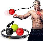Boxing Reflex Ball Set boxing tennis balls,3 Reflex Balls with Comfort Sweat Headband Training Punching Speed