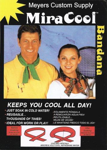 MIRACOOL COOLING BANDANA - KHAKI- 12 PACK