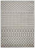 Cheap Diagona Designs Contemporary Traditional Moroccan Trellis Design 5′ X 7′ Area Rug, 63″ W x 87″ L, Gray/Ivory (JAS2113)