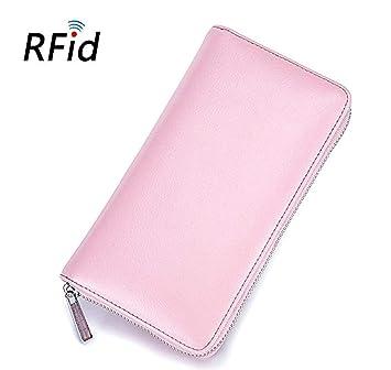 DDPP Cartera Larga Gran Capacidad de Moda RFID Seguridad ...