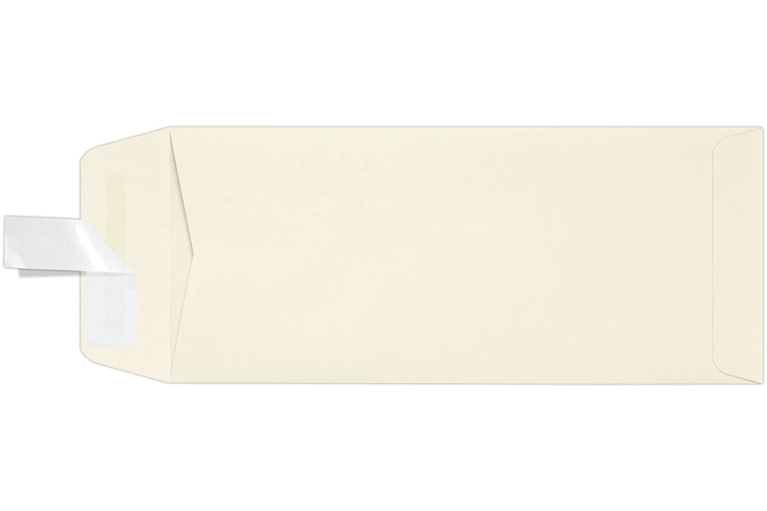#10 Open End Envelopes w/Peel & Press (4 1/8 x 9 1/2) - Natural (50 Qty.) | Perfect for Checks, Invoices, Letterhead, Letters, Statements | 7716-N-50 Envelopes.com