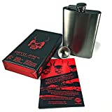 Hip-Flask-Devil-Joes-8oz-Sippin-Flask-Gunmetal-Gray-8-Ounce-Whiskey-Drinking-Flask-Premium-Quality-Stainless-Steel-with-Captive-Cap-Perfect-Gift-for-Birthdays-Weddings-and-Anniversaries