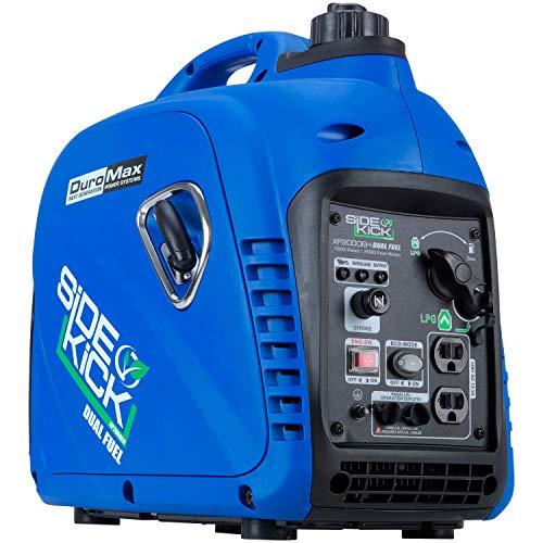 (DuroMax XP2000EH Dual Fuel Inverter Generator, Blue)