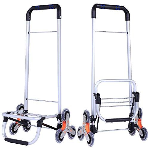 75e1272de1ff Keland Small Folding Shopping Cart Aluminum Collapsible Rolling ...