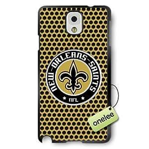 NFL New Orleans Saints Team Logo For SamSung Note 2 Case Cover Black PC(Hard) SoftBlack