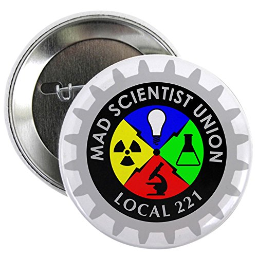 CafePress Mad_Scientist_Union_Logo_Dark 2.25 Button 2.25