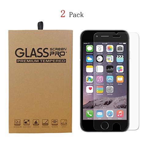 (2 Pack) iPhone 6 Plus / 6s Plus Screen Protector, Laxier(TM) 0.33mm 9H  Hardness Curved Edge Crystal Clear Tempered Glass Screen Protector Film For  Apple ...