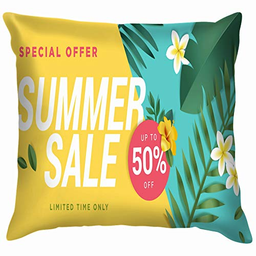 Summer Sale Mobile Social Business Finance Pillow Case Throw Pillow Cover Square Cushion Cover 24X24 Inch ()