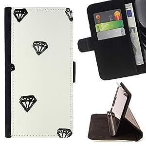 Momo Phone Case / Flip Funda de Cuero Case Cover - Diamond Acuarela Dibujo minimalista - LG G4 Stylus H540