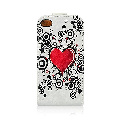 """Handytasche Flip Case """"Love"""" für Apple Iphone 4s Handy Cover Schutz Hülle Etui"""