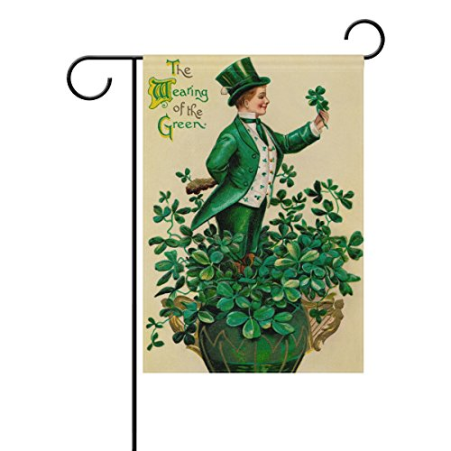 Naanle St. Patrick's Day Polyester Garden Flag 28 x 40 Doubl