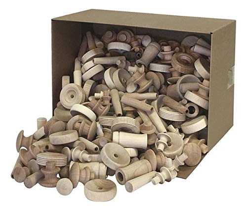 Pacon Assorted Wood Pieces and Shapes, 18 Pounds