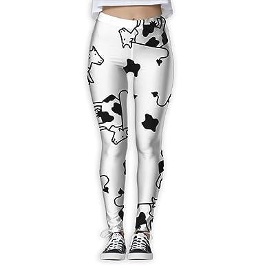 5bf04dfa8db289 Amazon.com: YOIGNG Yoga Pants Cow Dot Cow Skinny Printed Jegging Colored  Capris: Clothing