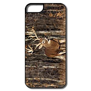 IPhone 5S Case, Deer Forest White/black Case For IPhone 5 5S