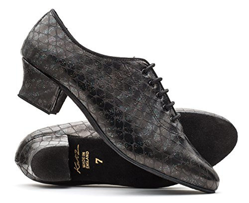 Stage Lace Black Ballroom Sole up Showtime Katz Suede Sparkle Ladies Dancewear Shoes PU by Practice qEExPp40
