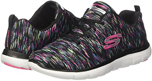 Zapatillas Appeal Skechers Mujer Flex reflection 0 multicolour 2 Negro Para black R6RX14W