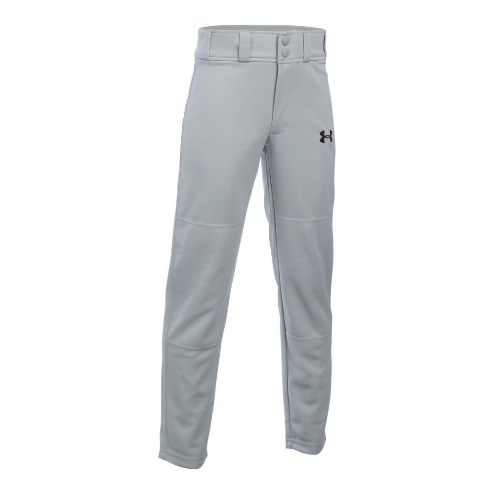 Under Armour Boys' Clean Up Baseball Pants, Baseball Gray, Youth Small by Under Armour