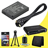 Leica V-LUX 40, V-LUX 30, V-LUX 20 Digital Cameras BP-DC7 Lithium Ion Replacement Battery + Mini HDMI Cable + SDHC Card USB Reader + Memory Card Wallet + Deluxe Starter Kit DavisMAX DC7 Battery Bundle