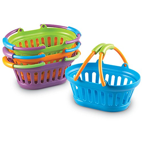 Plastic Baskets With Handles (Learning Resources New Sprouts Stack of)