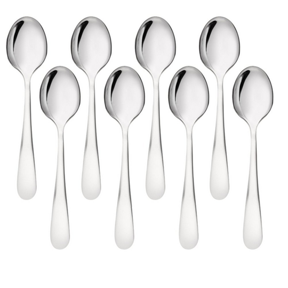 Hosaire 8 Pcs Stainless Steel Demitasse Spoons Espresso Spoon Teaspoon Suitable for Every Cutlery, Coffee Spoons - Set of 8 Bistro Stainless Steel Spoons Compliment all Cutlery Sets. 19-11 Chromium Nickel for Maximum Shine and Strength