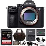 Sony Alpha a7RIII Mirrorless Digital Camera (Body Only) with Sony 64GB SD Card and SLR Accessory Bundle