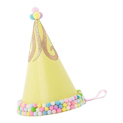 PETSOLA Sombrero de Fiesta de Cumpleaños para Niño y Adulto ...