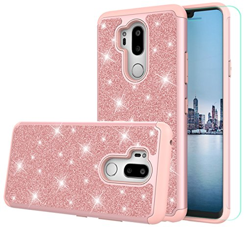 LG G7 ThinQ Case,LG G7 Case with HD Screen Protector,SunRemex Durable Armor  and Heavy Duty Protective with Fashion Design Case Cover for LG G7 Phone