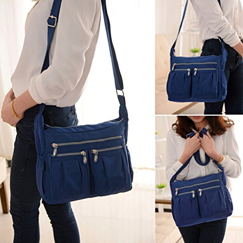 Cross Travel Handbag Vbiger Pocket Multi Blue Casual Bag Bag Body Messenger IwIOH0