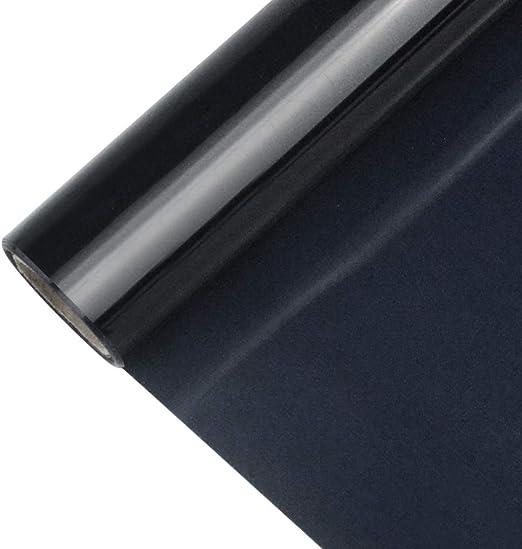 Baotongle - Lámina de vinilo negra para transferencia de calor, lámina de planchado prémium, para camisetas, sombreros (30,5 cm x 1,5 metros, 1 rollo): Amazon.es: Juguetes y juegos