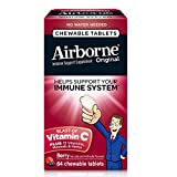 Airborne Berry Chewable Tablets, 64 count - 1000mg of Vitamin C - Immune Support Supplement