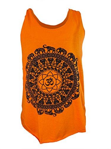 "T-Shirt / Top ""Om"" orange - Baumwolle - One Size - Tanktop"