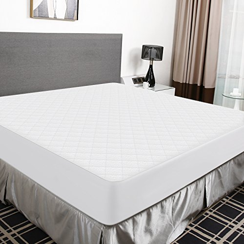 Recci Premium Bamboo Mattress Protector Calking Size - 100% Bamboo Fabric Surface Mattress Cover, Waterproof Bed Cover, Hypoallergenic Cal King Mattress Protector, Vinyl Free【California King Size】 -
