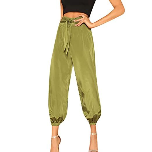 41e1332345 GoodLock (TM) Hot!! Women's Fashion High Waist Wide Legs Pants Ladies  Casual Summer Solid Straps Zippers Trousers Pants at Amazon Women's Clothing  store: