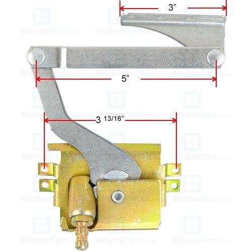 Pella Replacement Window - Pella Pro Series Roto Operator Left Hand (1993-1999)