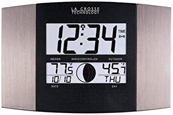 Amazoncom La Crosse Technology WS8117UITAL Atomic Wall Clock