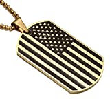 Apopo Swag American flag Chain Glossy Hip Hop Necklace - gold2
