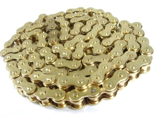 2LSF GOLD CHAIN 420 78 LINK HONDA XR50 CRF50 Z50 STOCK REPLACEMENT CHAIN Suzuki JR50 JR 50 1978-2000 CH09 (Crf50 Stock)