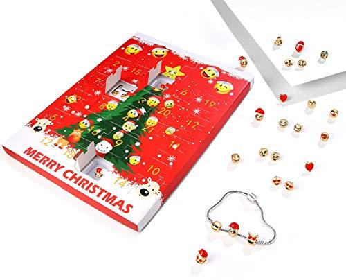 USATDD - Calendario de Navidad 2018, diseño de Cuenta atrás, para Mujeres, niñas, Bricolaje, joyería, Calendario de...