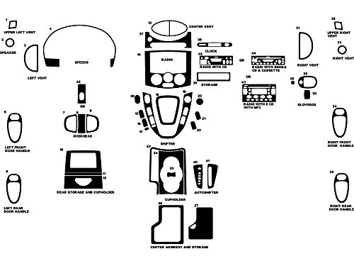 - Rdash Dash Kit Decal Trim for Saturn Vue 2002-2005 - Matte (Silver)