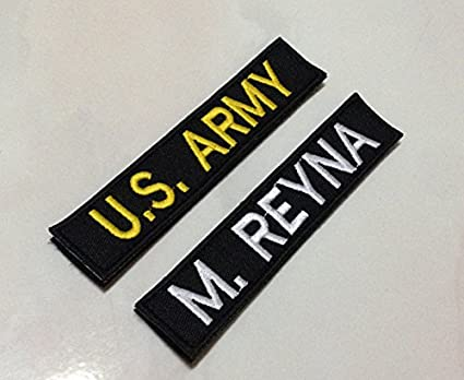 Amazon.com: Personalized Custom Name Tape with Hook Fastener Backing /  Black / 5 Inches (W)
