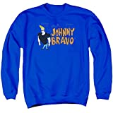 Johnny Bravo Cartoon Series Cartoon Network TV Show Logo Adult Crew Sweatshirt