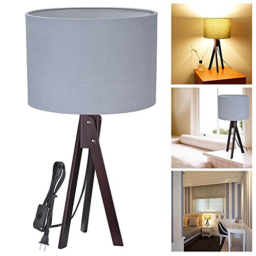 Yescom Wooden Tripod Lighting Lampshade