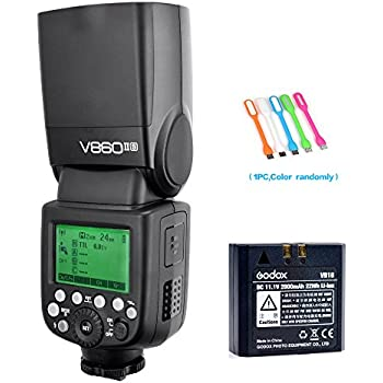 Godox V860II-S HSS GN60 2.4G TTL Li-on Battery Camera Flash Speedlite for Sony + HuiHuang USB LED Free gift